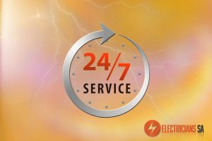 24/7 Electrical Services Electricians SA Orange Background