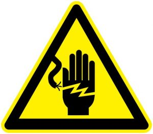 Electrical Shock Danger Sign