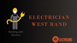 West Rand Electrician, electrician holding electrician yellow cable